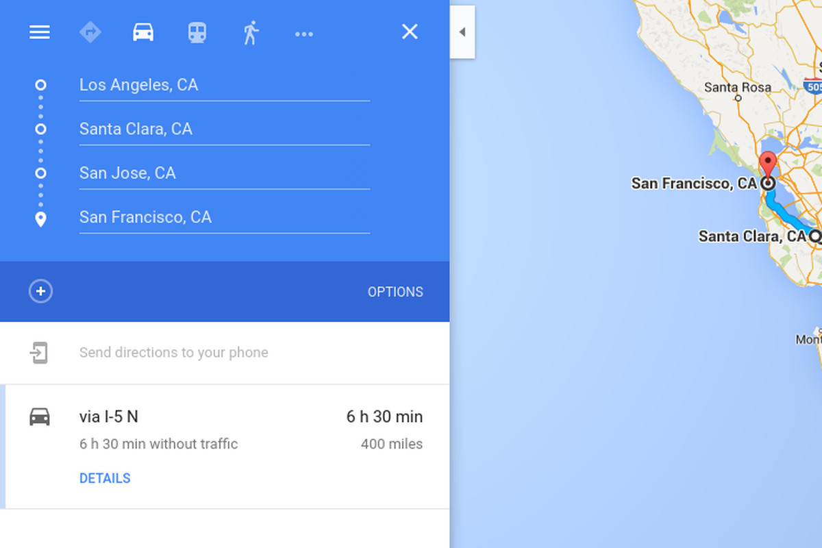 Google Maps For Ios Now Supports Multiple Destinations The Verge