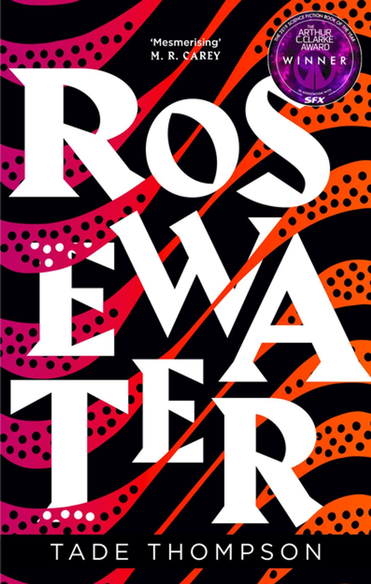 The cover of Tade Thompson's Rosewater