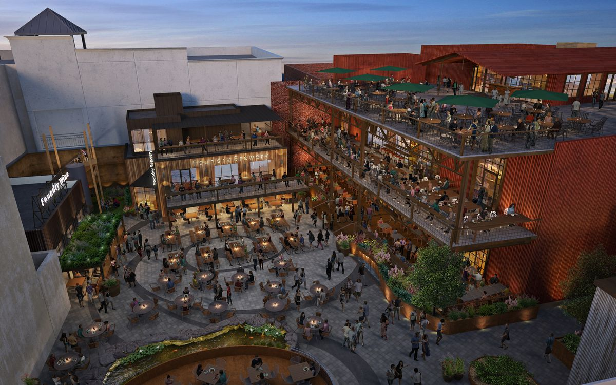 A rendering of the food hall headed to Walnut Creek