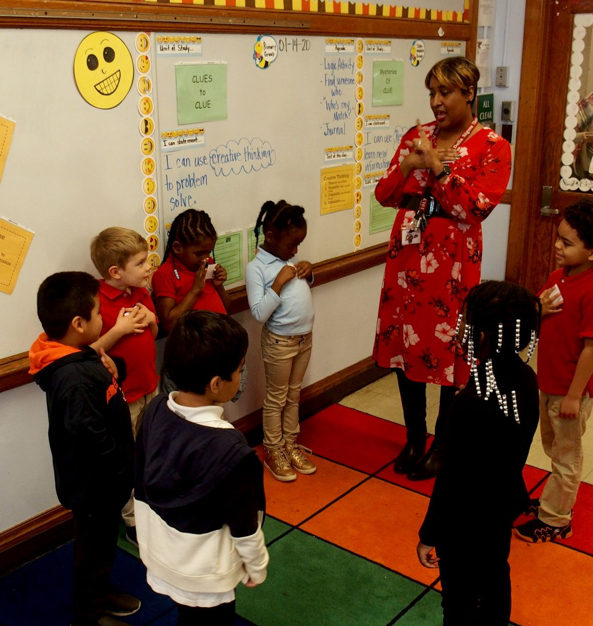 Students in Treadwell Elementary's new CLUE class begin a get-to-know-you activity.