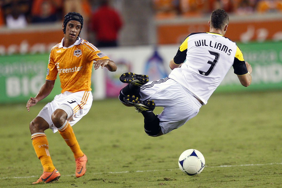 Well this is just a fun picture.  and oh yeah, Calen Carr, don't leave him unmarked on a corner kick again.