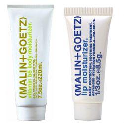 Malin+Goetz Vitamin B5 Body Moisturizer ($38) and Lip Moisturizer ($12), available at Barneys Co-op.