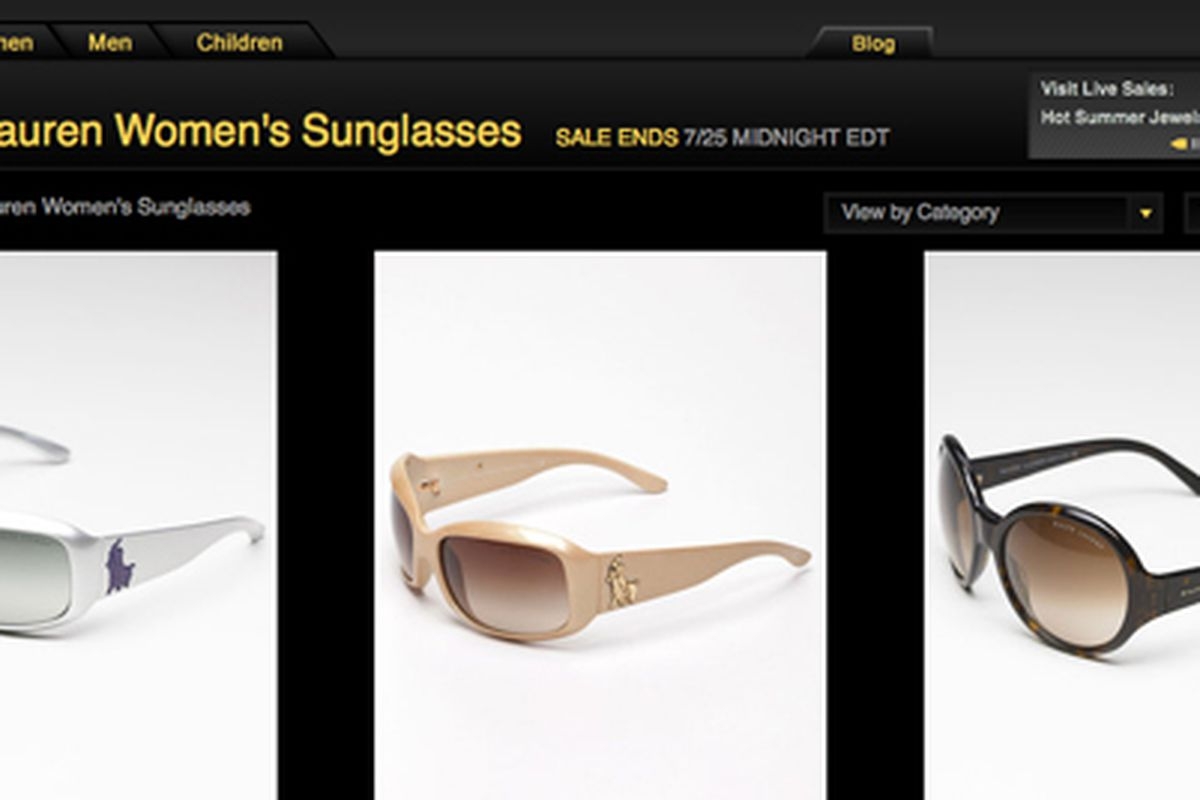 Today's Ralph Lauren sunglasses sale at Gilt