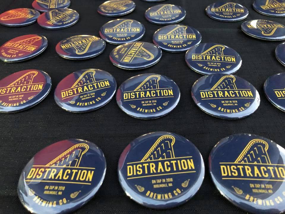 Distraction Brewing Company pins