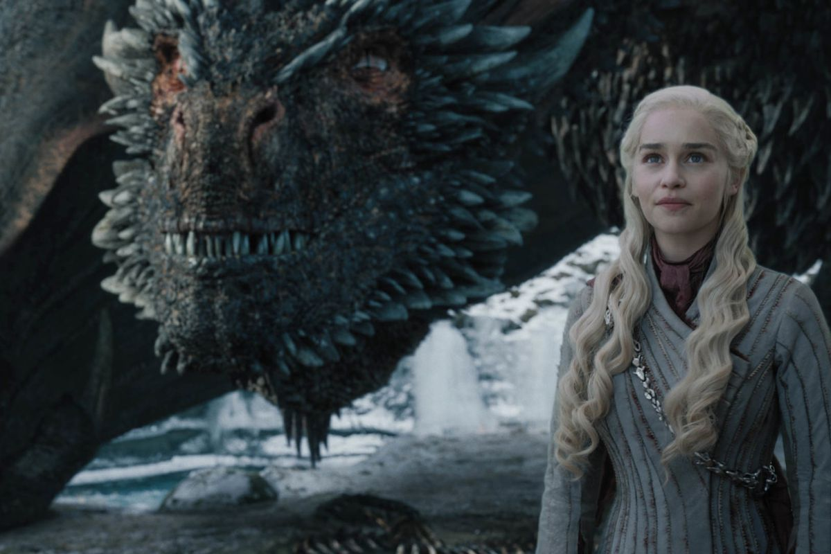 """Emilia Clarke is shown in a scene from the HBO series """"Game of Thrones."""""""