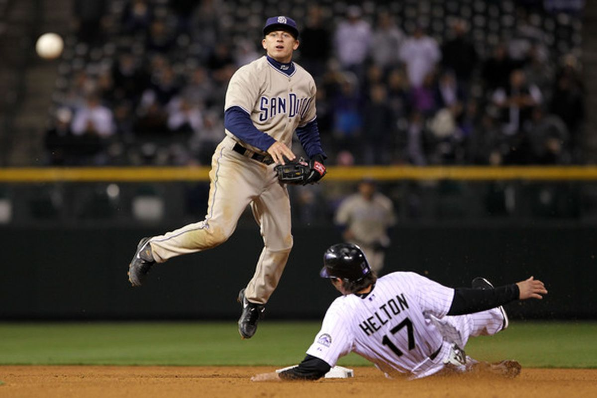 Scrappy scrappy scrap, scrapping scrappy scrappys, scrappys scrap in the scrappy scrapped scrappy scrappy in Saturday's game against the Rockies. (Photo by Doug Pensinger/Getty Images)