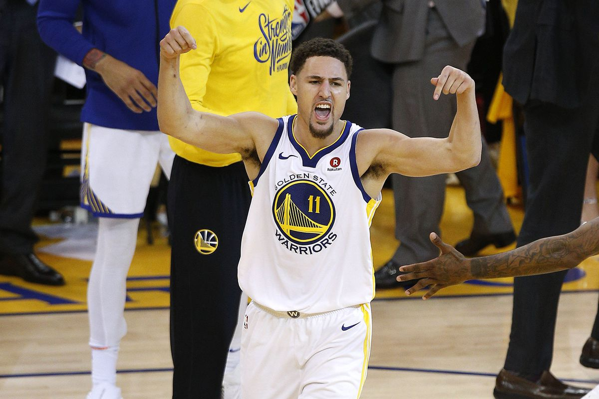 sports shoes 674f9 9e894 Klay Thompson has the best celebrations in the NBA ...