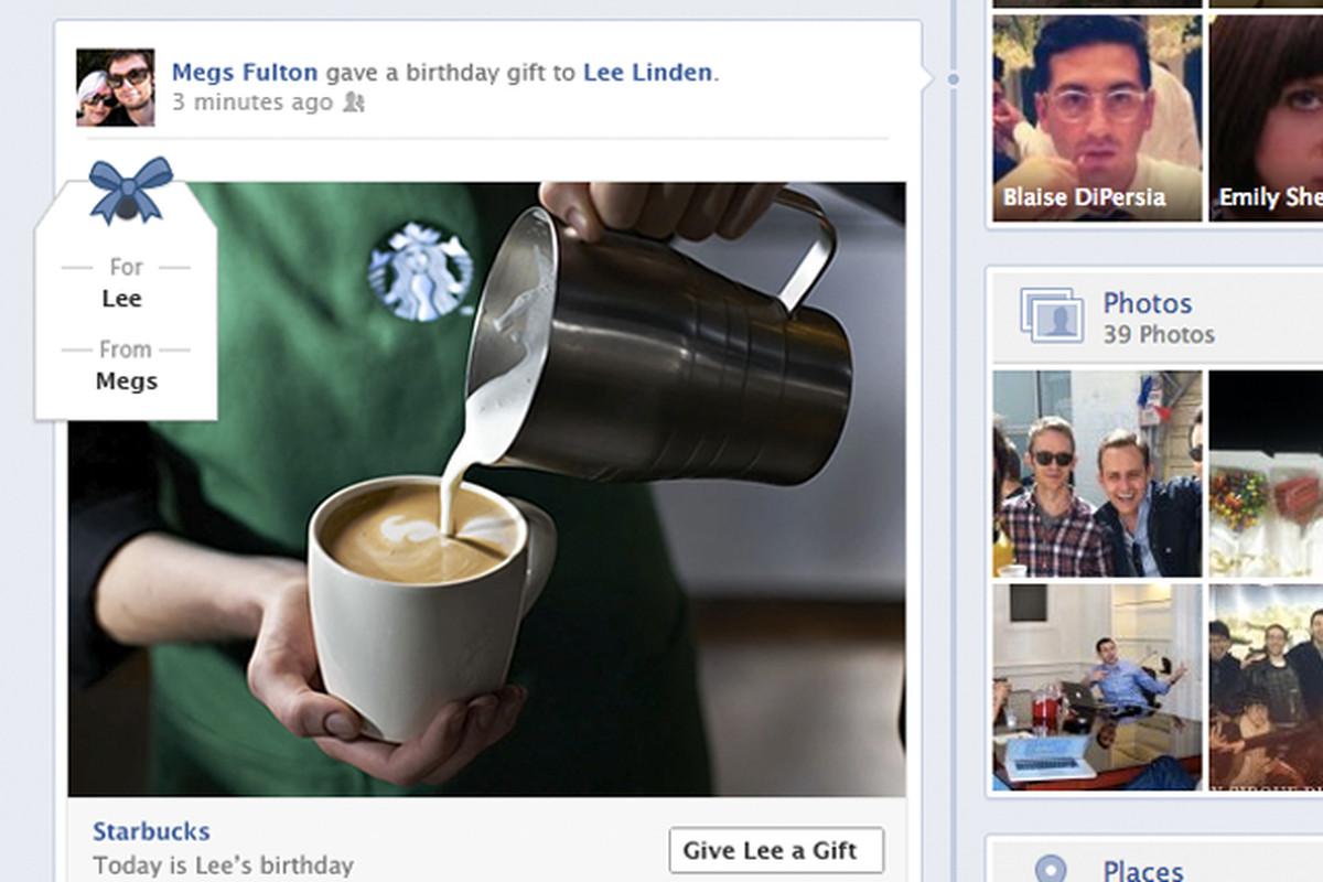 facebook gifts timeline