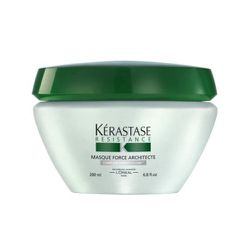"""<strong>Kerastase</strong> Resistance Masque Force Architect, <a href=""""http://www.kerastase-usa.com/masque_force_architecte/MFA0000.html?dwvar_MFA0000_size=200ML&cgid=damaged-cleanse-treat#start=3&cgid=damaged-cleanse-treat"""">$62.50</a>"""