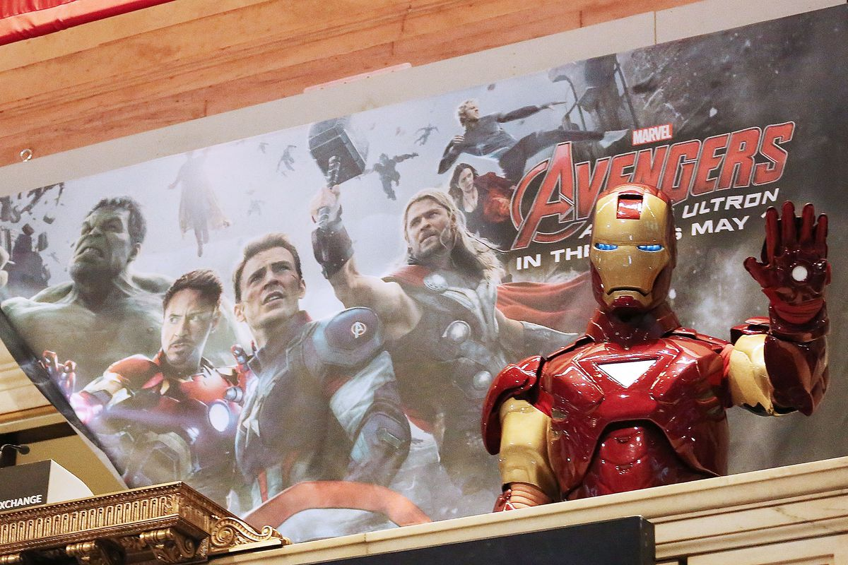 """Robert Downey, Jr. And Jeremy Renner Join Marvel Entertainment Executives Ring The NYSE Opening Bell In Celebration Of """"Marvel's Avengers: Age Of Ultron"""""""