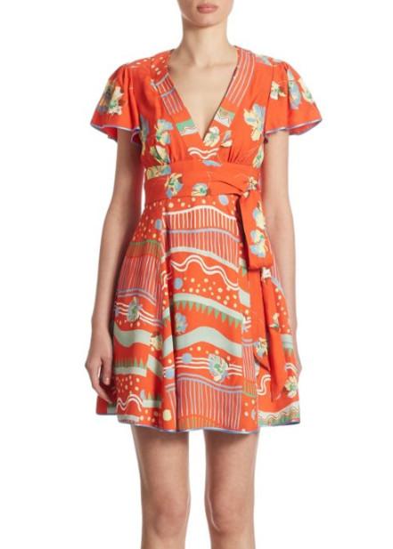 Marc Jacobs Floral-Print V-Neck Dress, $795