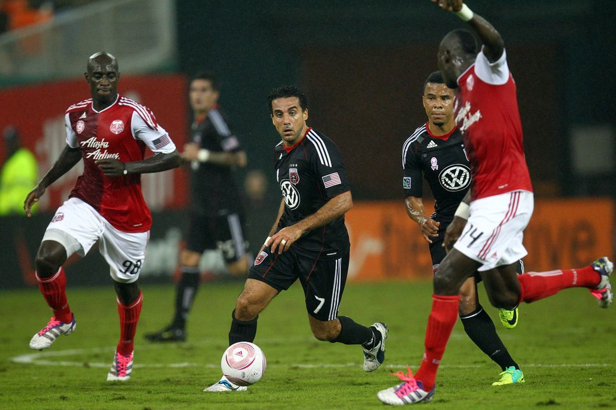 Dwayne De Rosario of DC United won his first MLS Golden Boot award. (Photo by Ned Dishman/Getty Images)