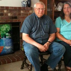 Chuck and Judy Cox talk about Cox's daugher, Susan Powell,  in Washington Friday, Aug. 26, 2011. Powell has been missing since Dec. 6, 2010.