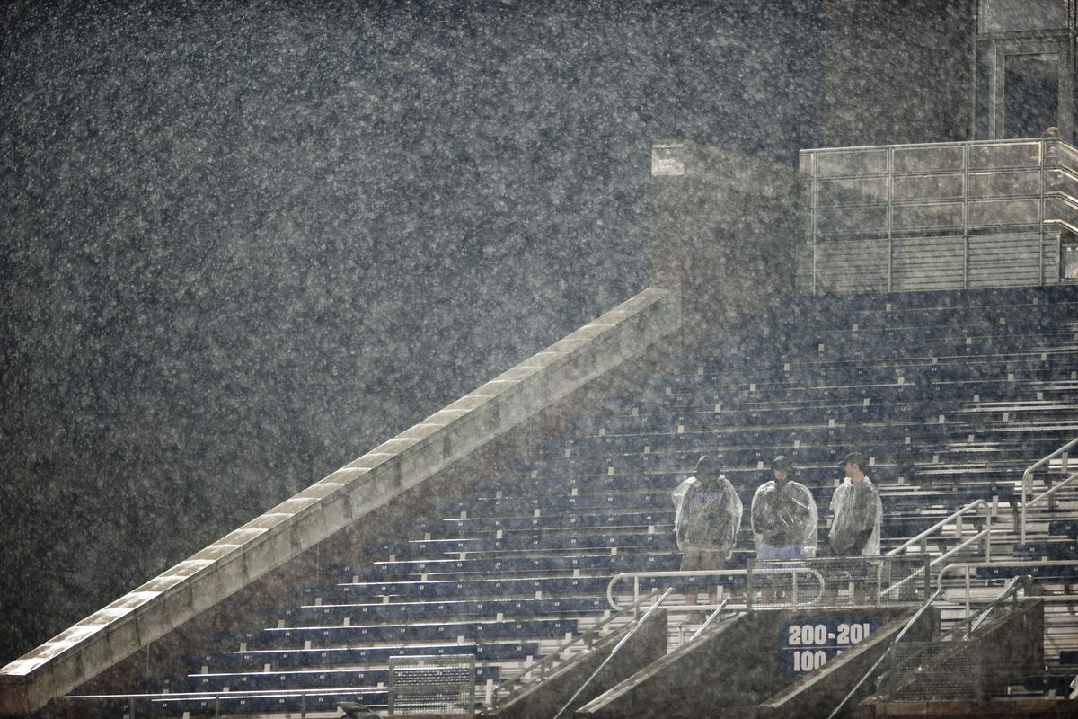 More SMU fans came out for the deluge game than are expected tomorrow.