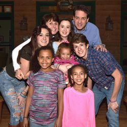 The DeGarmo family — John, Kelly, Brailey, Brody, Gracie, Jace, Kolby and Cassie _ pose in their home on Feb. 28.