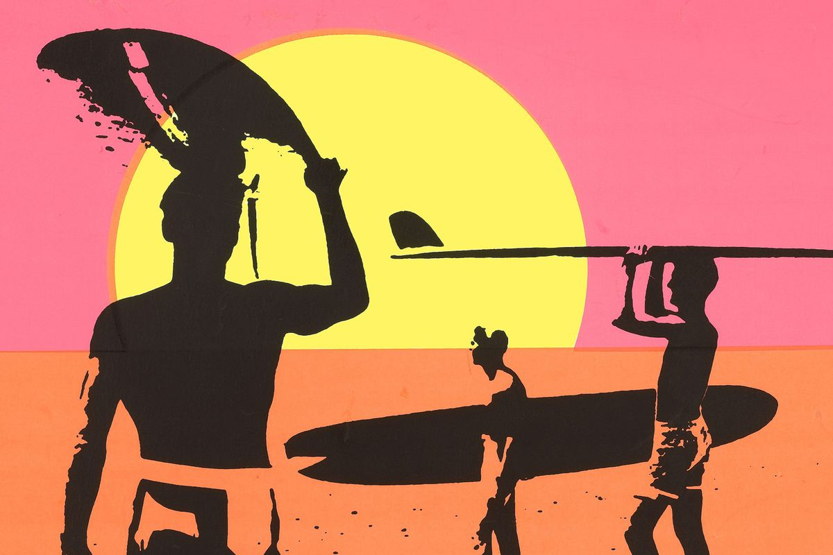 A poster for the 1966 film The Endless Summer, a classic surf movie that came to symbolize the season.