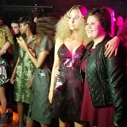 The models were later unleashed onto the dance floor.