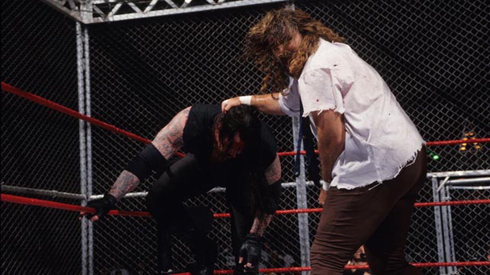 undertaker vs rikishi hell in a cell español