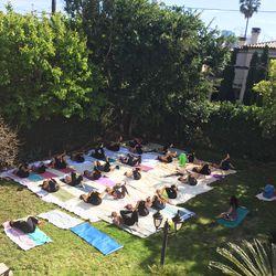 Handstand App yoga instructor Nikka led a gentle yet effective session.