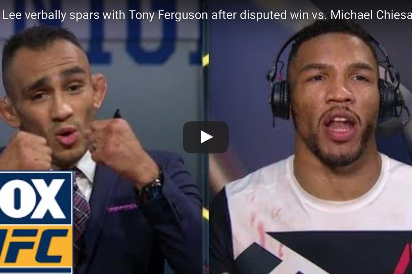 Video: Kevin Lee gets into televised tiff with Tony Ferguson following UFC Oklahoma