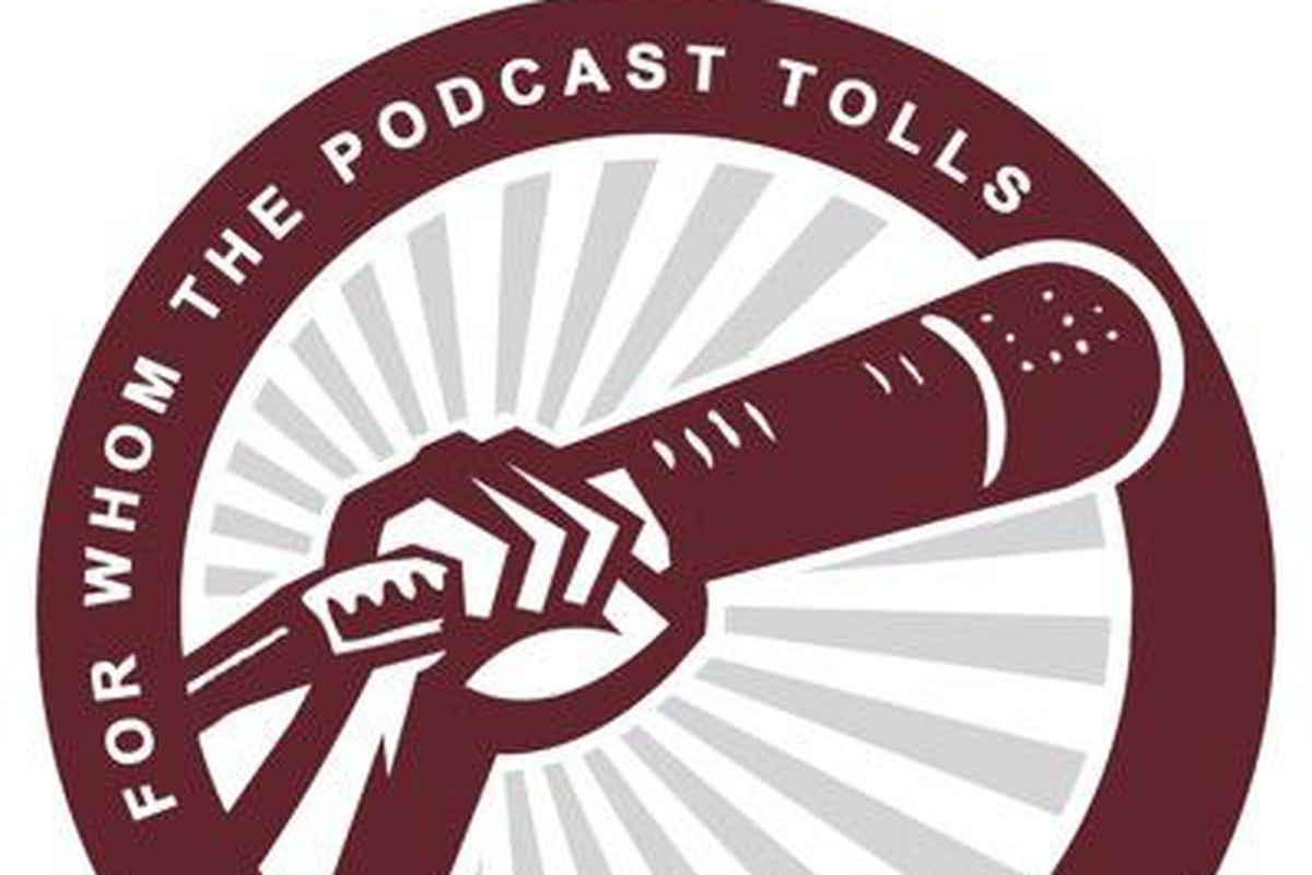 For Whom the Podcast Tolls logo
