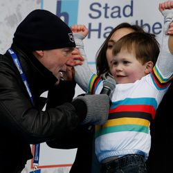 Kid Gilbert (not actually his kid) and Michel Wuyts