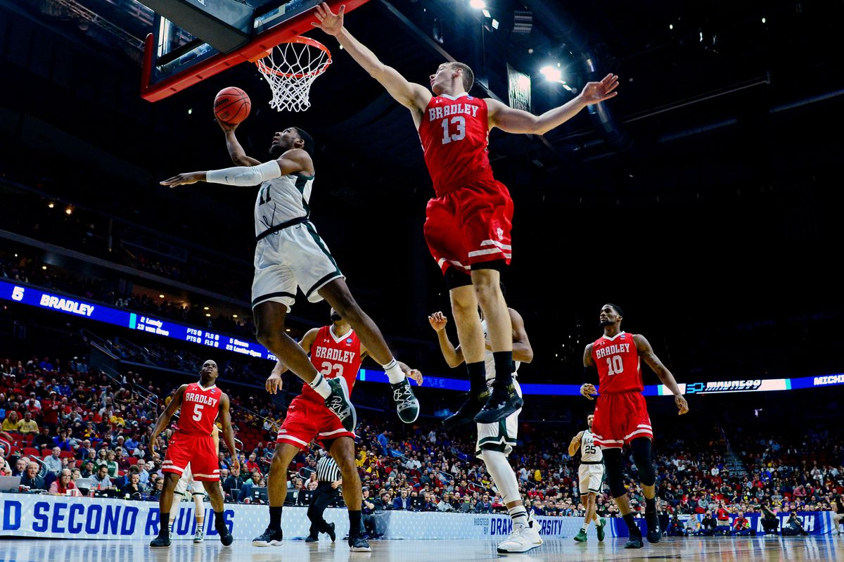NCAA Basketball: NCAA Tournament-First Round-Bradley vs Michigan State