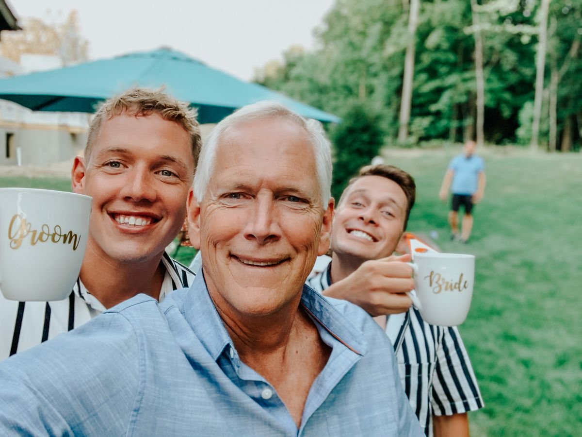 Matt Lynch with his father and brother.
