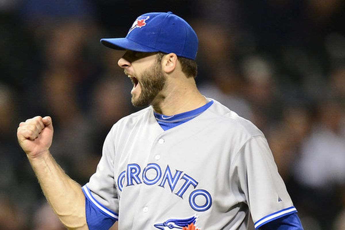 Brandon Morrow reacts after recording the final out against the Chicago White Sox on June 6, 2012.
