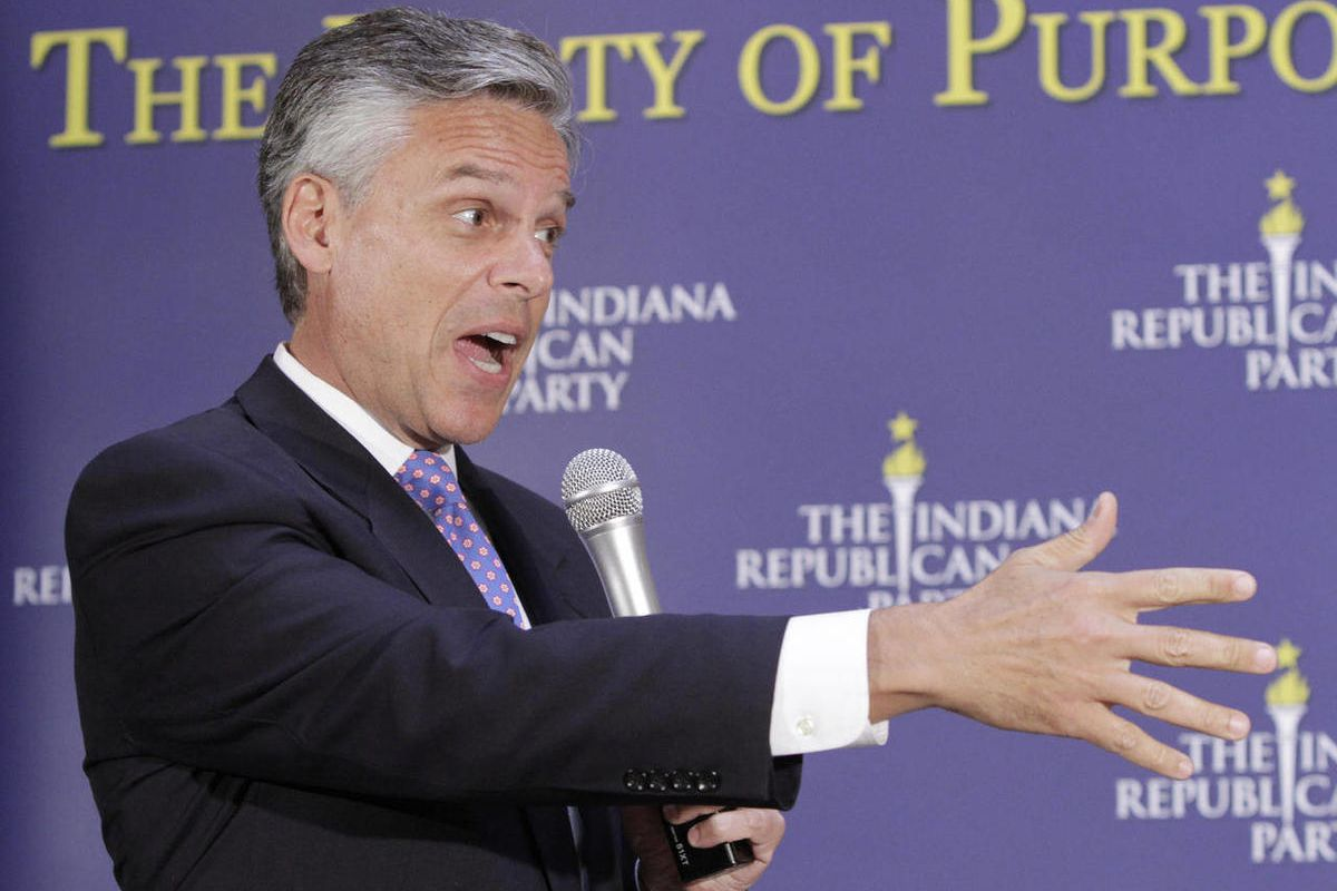 Former Utah Gov. Jon Huntsman, who dropped out of last year's presidential race after a disappointing showing in the New Hampshire Republican primary, urged members of his party to push to legalize same-sex marriage in their states.