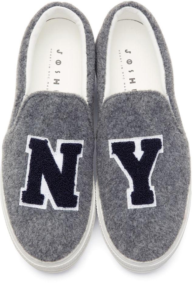 "Joshua Sanders ""NY"" Platform Slip-On Sneakers, $204"
