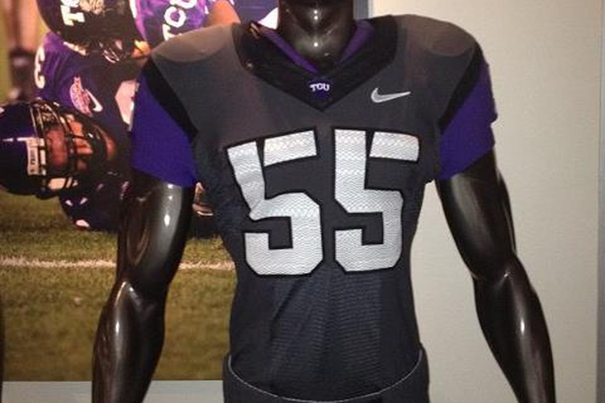 """TCU's new Anthracite uniforms were debuted today <a href=""""http://gofrogs.cstv.com/index-main.html"""" target=""""new"""">(PHOTO COURTESY OF TCU ATHLETICS)</a>"""