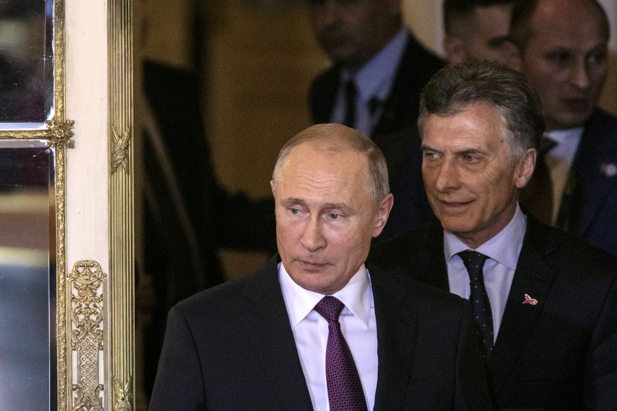 Vladimir Putin Meets Mauricio Macri - Argentina G20 Leaders' Summit 2018