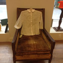 Elleez New York lace blouse, $75