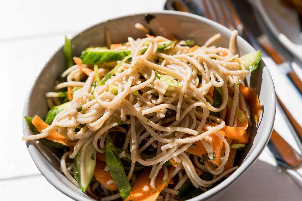 Soba noodle salad at Village Rotisserie