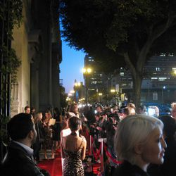 Red carpet situation outside.