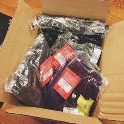 """Surprise delivery when I got back from the gym—my <a href=""""http://15loveapparel.com/""""><b>15Love</b></a> clothes arrived!! I am one of their <a href=""""http://15loveapparel.com/trainers.html"""">Trainers We Love</a> and I'm excited to rock the gear. It is so we"""