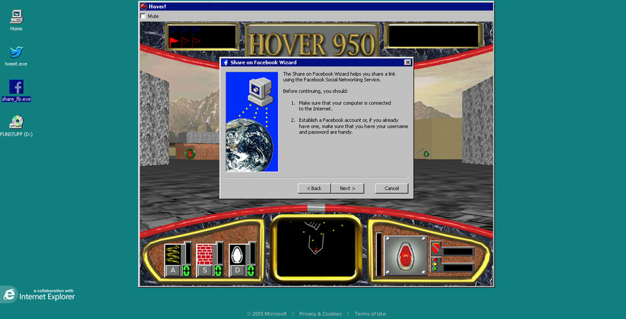 Microsoft Brings Classic Hover Windows 95 Game To The