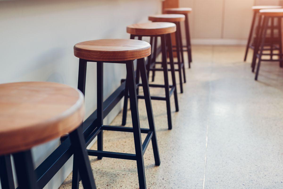 Counter seats at a restaurant