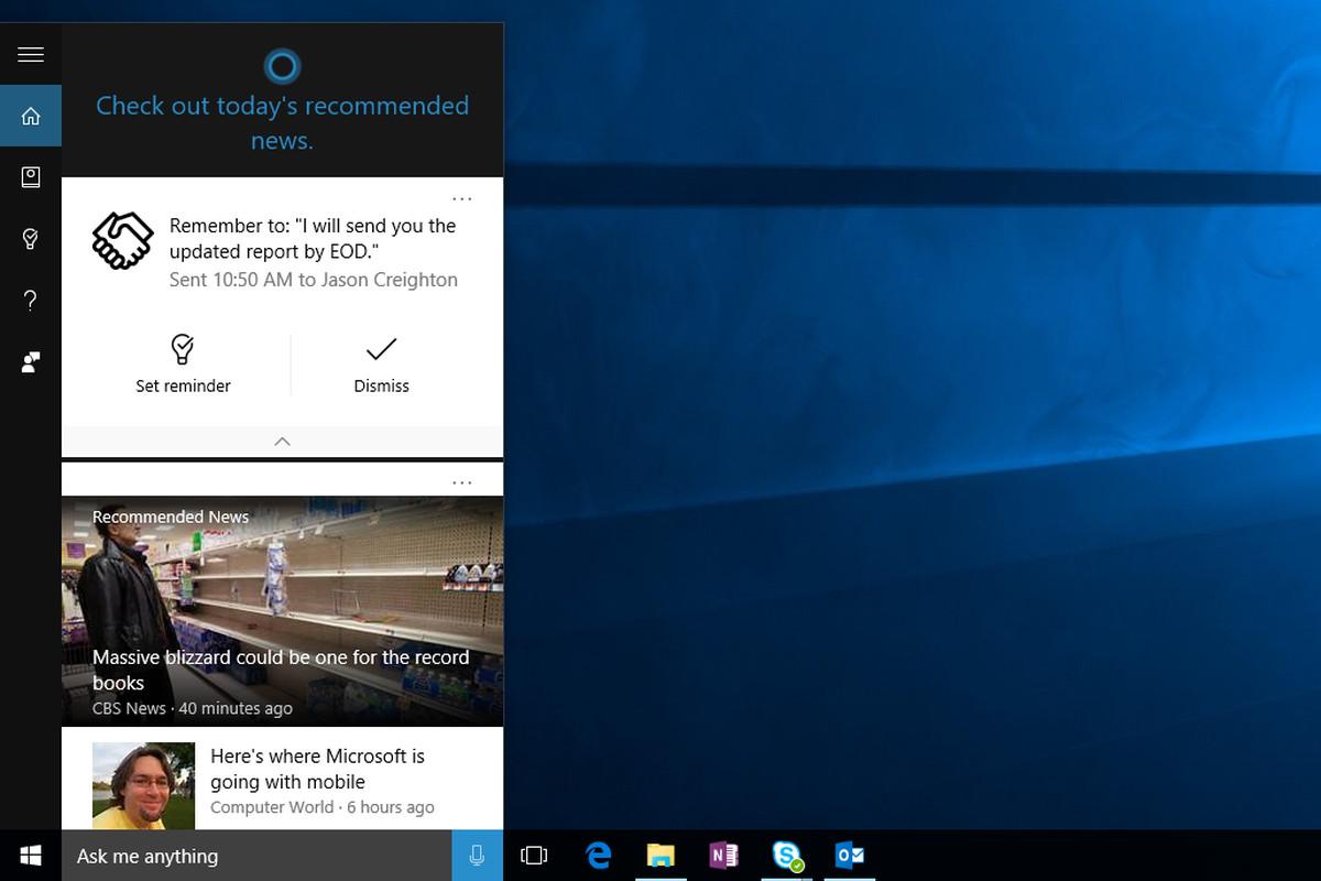 Cortana commitments