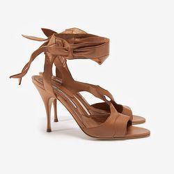"Brian Atwood Temptation Ankle Tie Sandal, $875 at <a href=""http://www.intermixonline.com/product/brian+atwood+temptation+ankle+tie+sandal.do?sortby=ourPicks&CurrentCat=109565"">Intermix</a>."