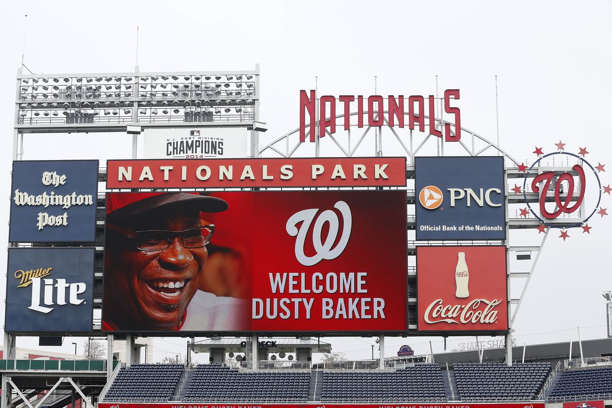The Washington Nationals officially introduced Dusty Baker as their next field manager Thursday.