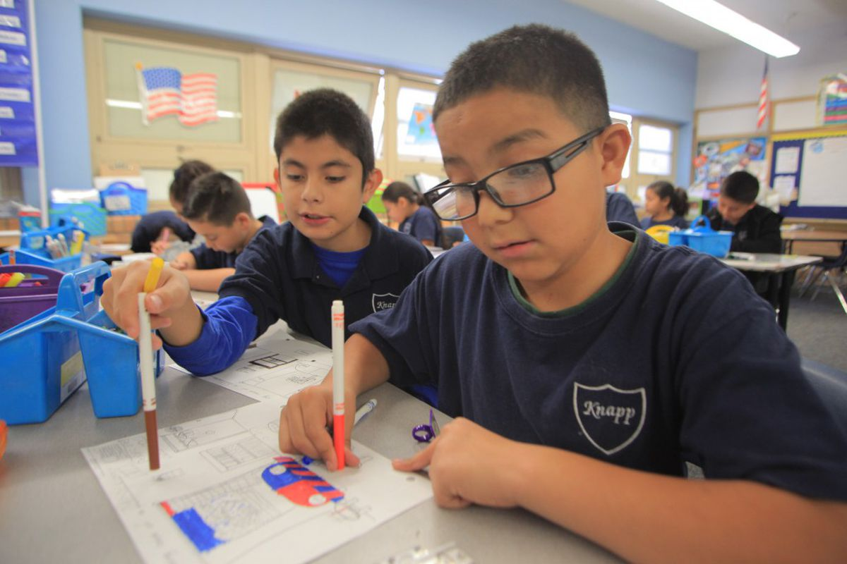 Denver's Knapp Elementary School was recognized by the state for its high student growth scores.