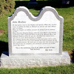 John Benbow's headstone in Murray, Utah.
