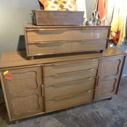 2 piece 50's french wood dresser: $375