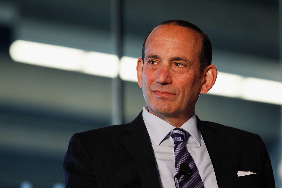 """NEW YORK, NY - SEPTEMBER 27:  MLS Commissioner Don Garber attends """"Sports Teams for Social Change,"""" hosted by Beyond Sport United on September 27, 2011 at Yankee Stadium in the Bronx borough of New York City.  (Photo by Mike Stobe/Getty Images)"""