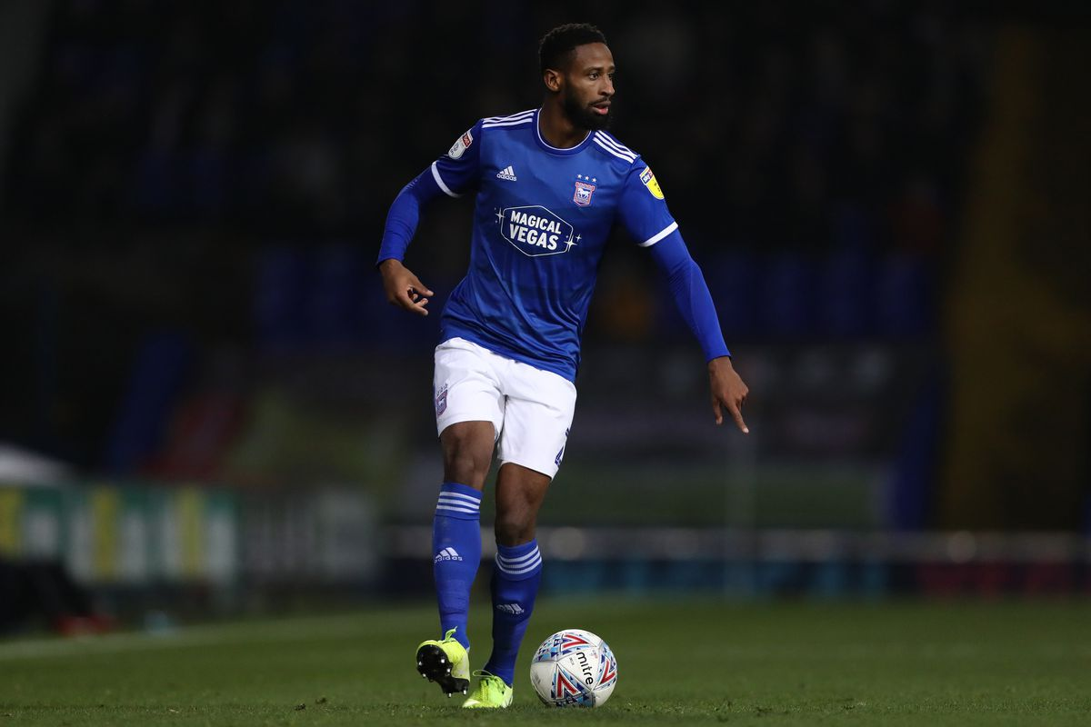 Janoi Donacien of Ipswich Town in action during the Sky Bet...