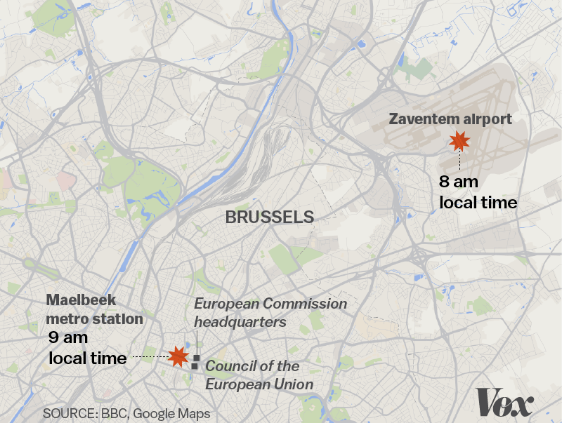 Attacks In The Airport And Metro In Brussels What We Know From - Brussels location on world map