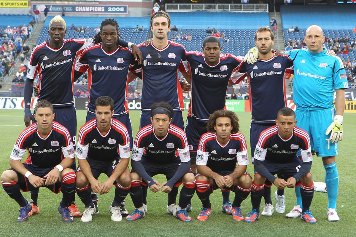 FOXBORO, MA - JUNE 16:  Members of New England Revolution pose before a game with the Columbus Crew at Gillette Stadium on June 16, 2012 in Foxboro, Massachusetts. (Photo by Jim Rogash/Getty Images)