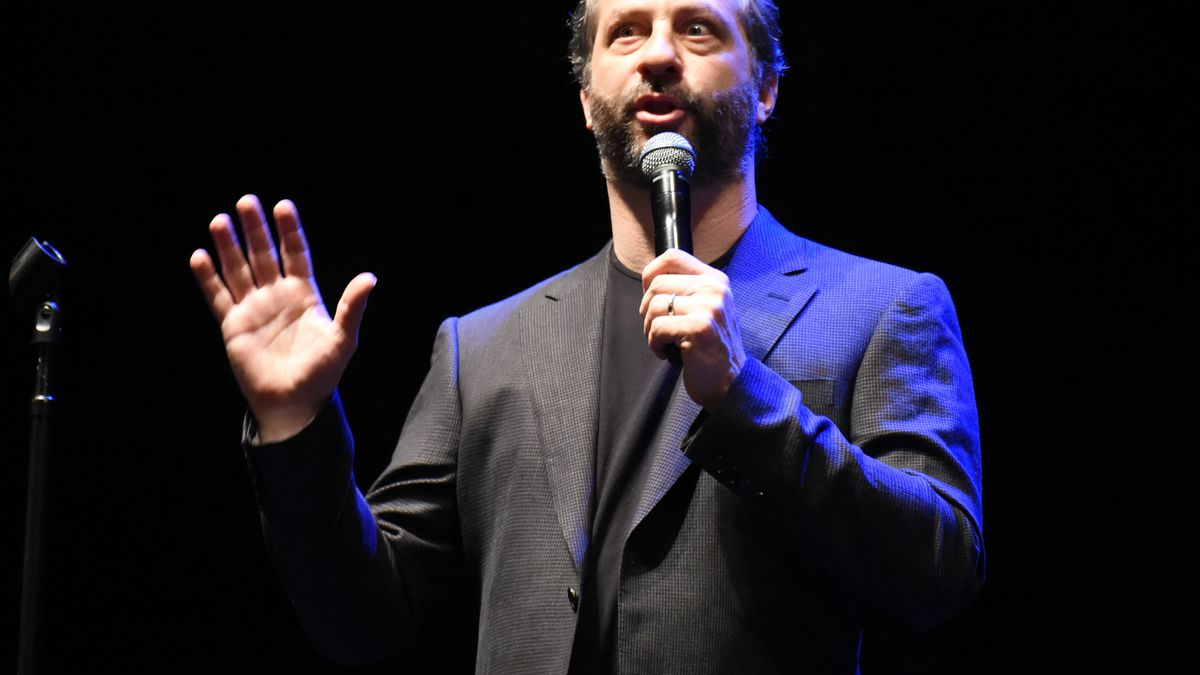 Apatow performs on the Trainwreck Comedy Tour at the Wiltern Theater on June 21, 2015, in Los Angeles, California.